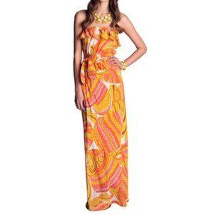 Trina Turk for Banana Republic Silk Maxi Dress